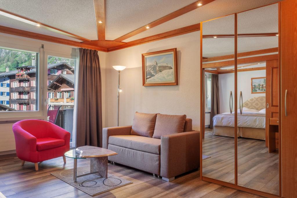 Hotel Beau Rivage Zermatt Suite Wohnen