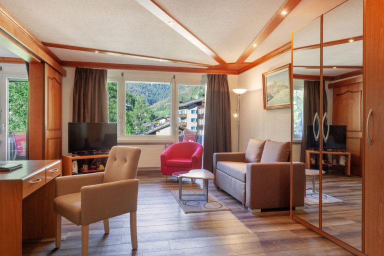 Hotel Beau Rivage Zermatt Suite Wohnzimmer